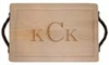 "Customizable 18"" Rectangular Cutting Board With Twisted Pewter Handles - MADE IN THE USA"