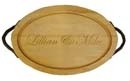 "Customizable 24"" Oval Cutting Board With Handles - MADE IN THE USA"