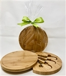 Round Bamboo Cutting Board with Tools
