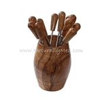 OLIVE WOOD OLIVE PICKS (6) IN BARREL