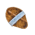 OLIVE WOOD OLIVE DISH AND OLIVE STABBER GIFT SET