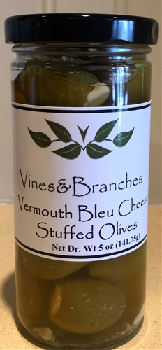 Vines & Branches Vermouth Bleu Cheese Stuffed Queen Olives Olives