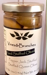 Vines & Branches PepperJack Cheese Stuffed Queen Olives
